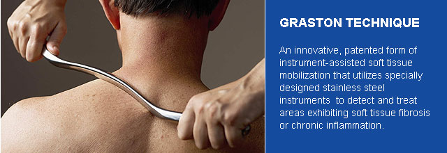 The Graston Technique NYC uses instruments to help break up scar tissue on injured muscles. We're in Noho Manhattan, call or contact our chiropractor NYC today.